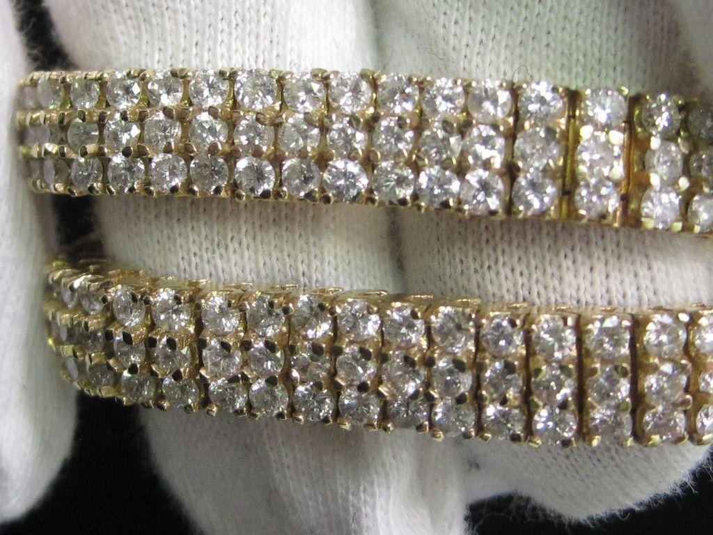 14K Yellow Gold 5 Ct.  total wgt.  Diamond Bracelet