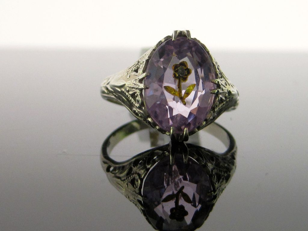 Rose Cut Amethyst Ring