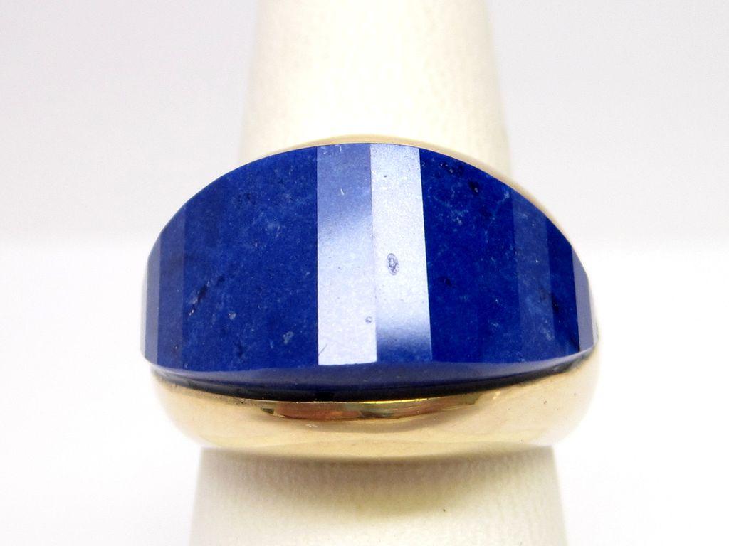 Lapis Lazuli 14K Gold Designer Ring