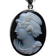 Art Deco Black Onyx Cameo