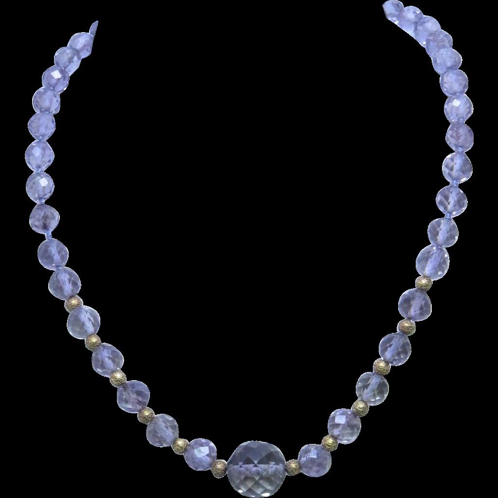 Antique Victorian Amethyst Bead Necklace