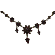 1880 Victorian Garnet Necklace