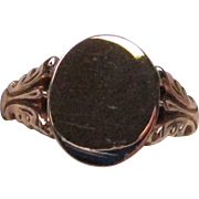 Victorian Rose Gold Signet Ring