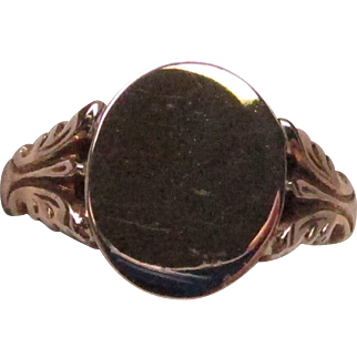 Victorian Rose Gold Signet Ring