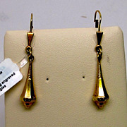 Gold Engraved Dangle Earrings