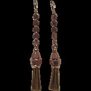 Victorian Gold Tassel Earrings