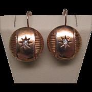 Victorian Diamond and 18 Karat Gold Earrings