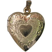 Vintage 14K Gold Heart Locket