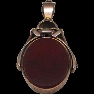 Victorian 9 Karat Gold Bloodstone and Carnelian Fob
