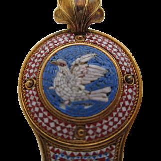 Micro Mosaic Pendant 18K Yellow Gold c 1860 Victorian