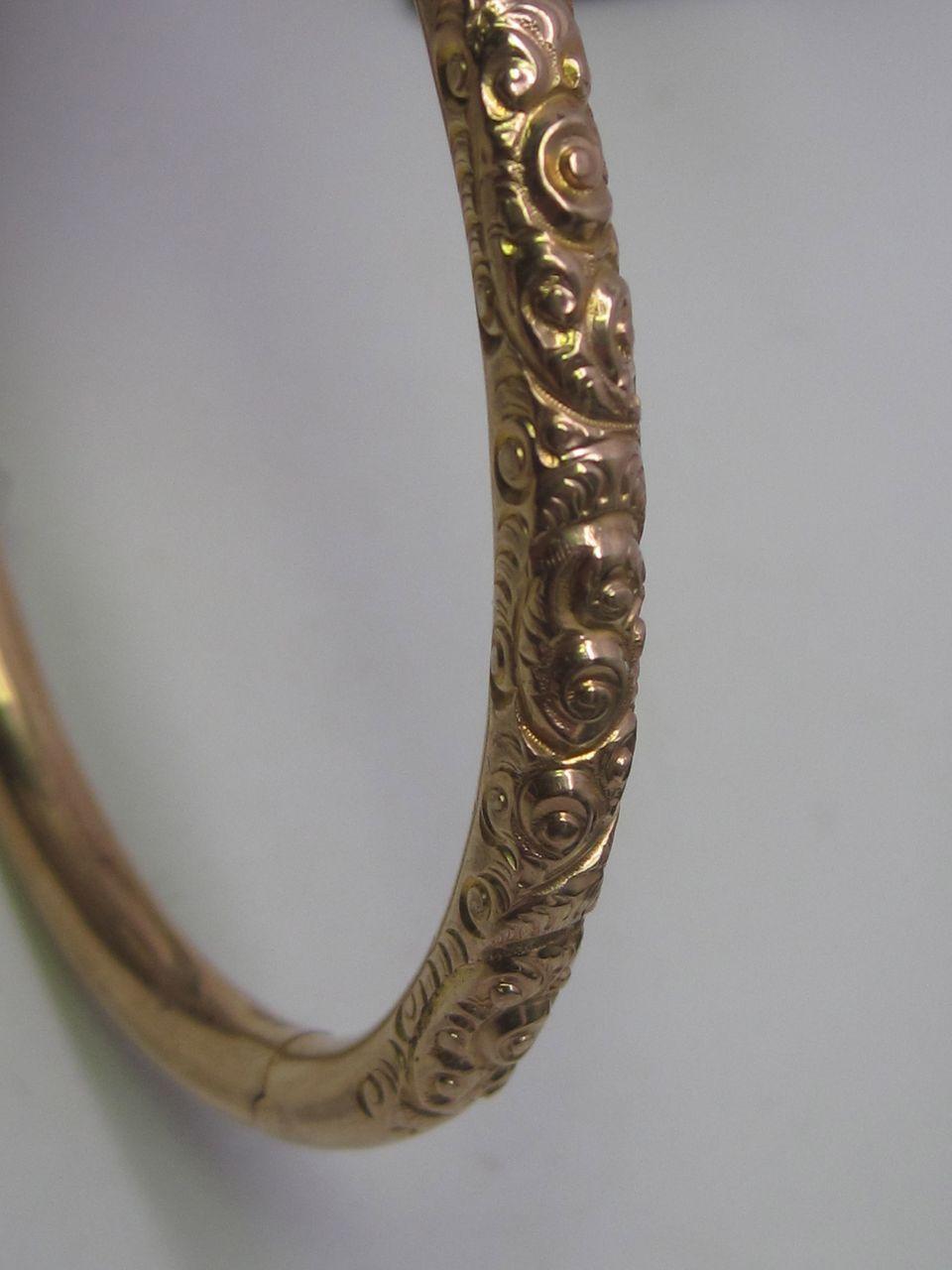 Victorian Engraved Gold Bracelet