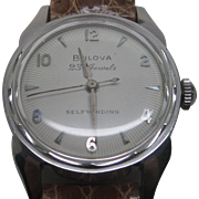 1950s Stainless Bulova 23 Jewels Self-Winding Watch