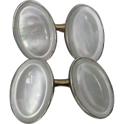 1920 Art Deco Mother of Pearl in 14K Yellow and White Gold