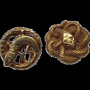 Art Nouveau French 18K Gold Snake Lizard Cufflinks