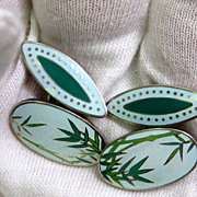 Japanese Enamel Cufflinks