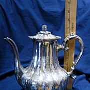 Sheffield England Hand Chased 4-pc Silver Tea Set w/ autumn pumpkin theme