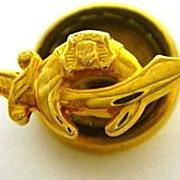 14K Gold Shriners Masonic Scimitar Pin