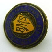 1919 Sterling Silver Enamel BMS Pin
