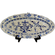 "Antique Meissen ""Blue Onion"" Fish Platter"
