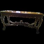 "Vintage Mahogany ""Liv-Dine"" All Purpose Table"