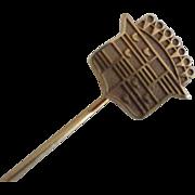 Vintage 14k Gold Cadillac Logo Stick Pin