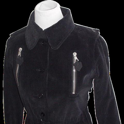 Courreges Couture Mid Century Corduroy Trench Dress Original
