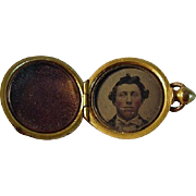 Civil War Daguerreotype Charm Locket