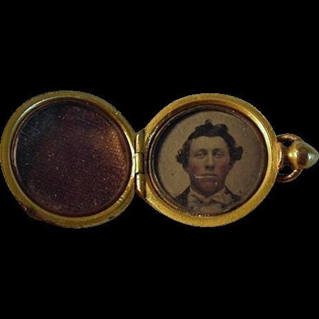 Civil War Daguerreotype Charm Locket