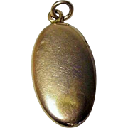 10K Gold Oval Locket Charm from 1900 French Bracelet