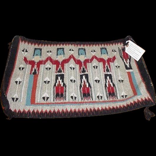 Navajo Yei Weaving Rug by Venora Watts 1960