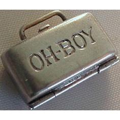 "RARE Traveling Suitcase Bar Liqueur Charm ""OH BOY"""