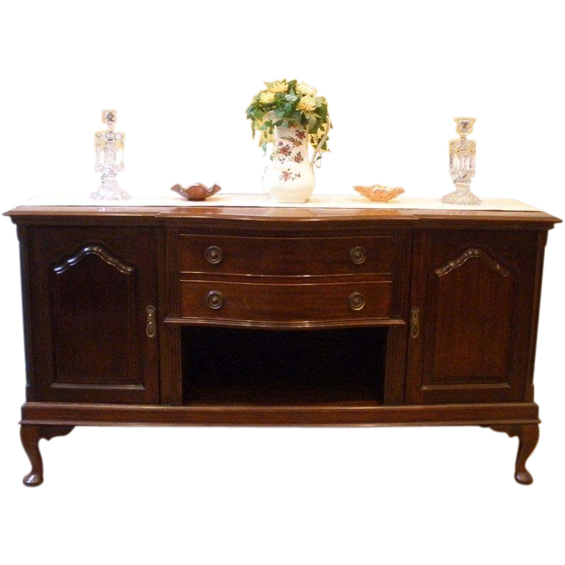 large antique sideboard server buffet english mahogany sold on ruby lane. Black Bedroom Furniture Sets. Home Design Ideas