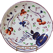19th C. Gaudy Welsh Cake Plate. Oyster Pattern.