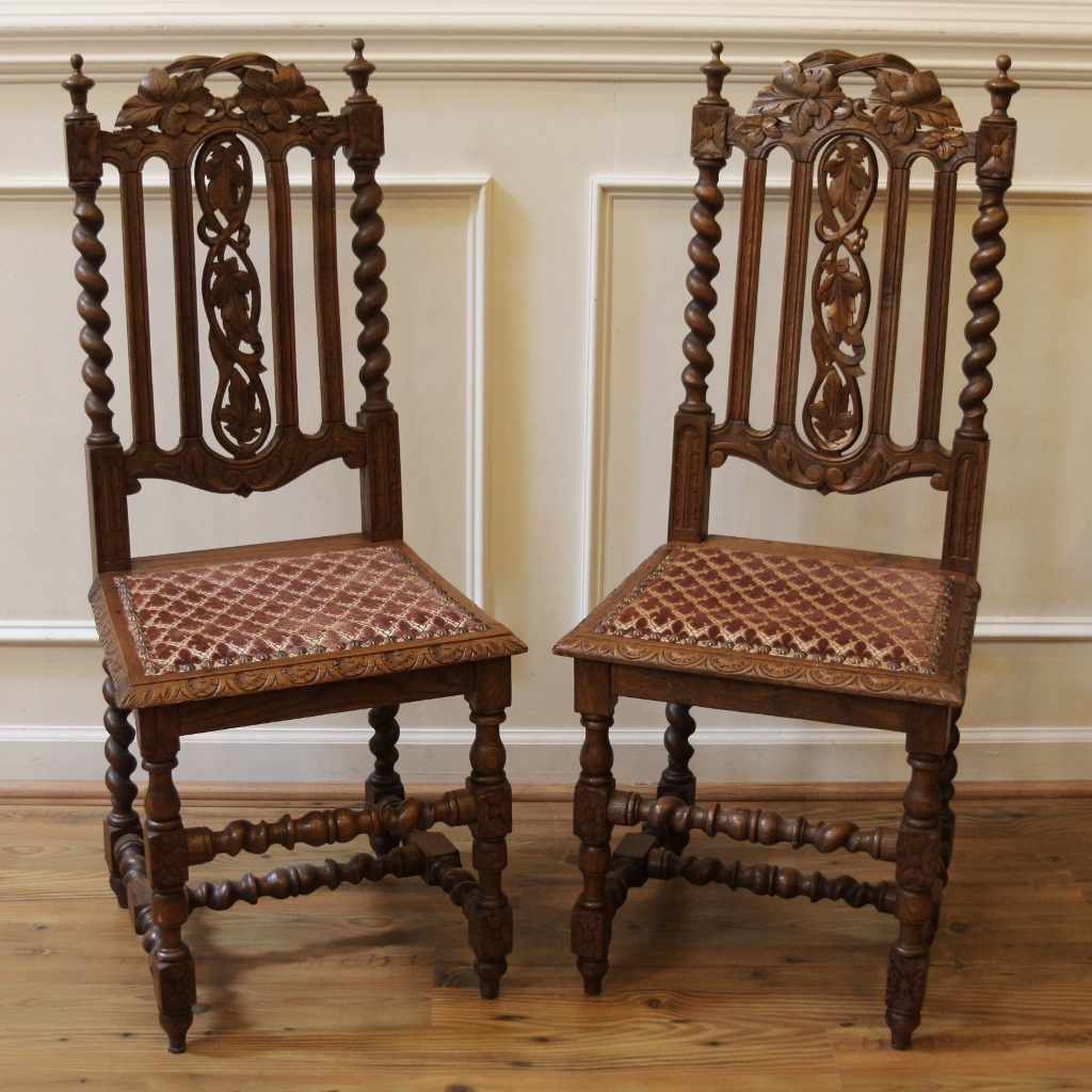 Antique carved chair furniture