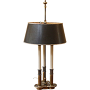 Vintage Stiffel Lamp, Bouillette Style, Brass.