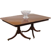Vintage Duncan Phyfe Style Extending Dining Table. Mahogany, American, C1930's.