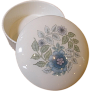Vintage Wedgwood Porcelain Trinket Box, Clementine Pattern.