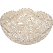 Early American Brilliant Cut Crystal bowl.