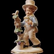 Vintage Porcelain Victorian Boy Figurine, Sandizell, Germany.