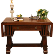 Vintage Library Desk, Empire Style, American.