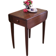 Rustic Side Table, Drop Leaf Stand.