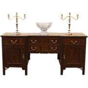 Antique Sideboard, Server, Buffet, Chippendale Style, Mahogany, English.