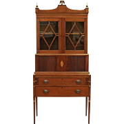 Antique Federal Secretary Desk Bookcase.