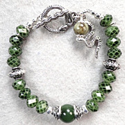 Serpents Of Ireland Bracelet Nephrite Jade Irish Connemara Marble Celtic Medieval Style