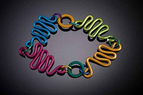 Anodized Aluminum Free Form Wire Bracelets