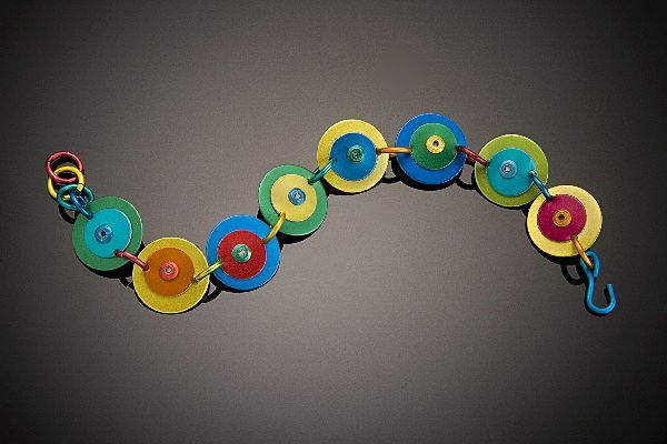 Anodized Aluminum Double Disc Bracelets
