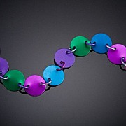 Anodized Aluminum Simple Disc Bracelets
