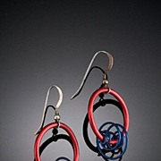 Anodized Aluminum Spiral Hoop Earrings