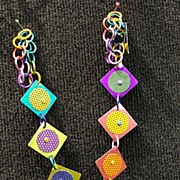 Anodized Aluminum Square Necklaces