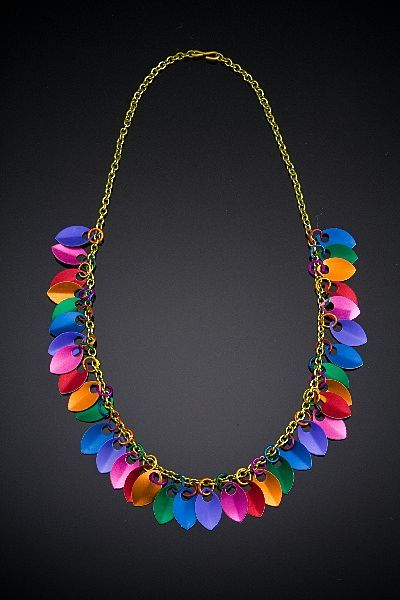 Anodized Aluminum Scale Necklaces